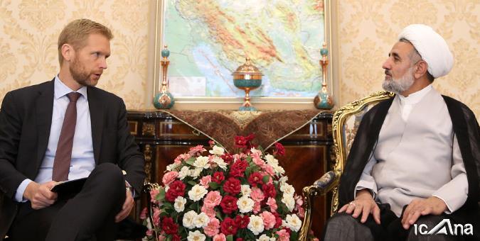 دیدار سفیر پادشاهی نروژ در تهران با رئیس کمیسیون امنیت ملی و سیاست خارجی